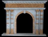 영국 작풍 대리석 벽난로 주위 벽난로 벽로선반
