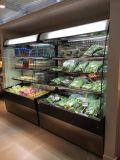 Свободно стоящий охладитель открытой выкладки питья супермаркета
