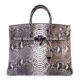 Sacchetto di Tote genuino della borsa del cuoio della pelle del pitone di disegno di marca per la signora
