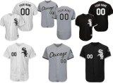 Qualquer Nome Personalizado qualquer n qualquer logotipo da equipe Homens Mulheres Crianças Chicago White Sox Home Alternate autêntica fé base flexível da base legal o beisebol camisolas
