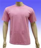 Kundenspezifischer weicher Kurzschluss Sleeves O-Ansatz Baumwollt-shirt 100%