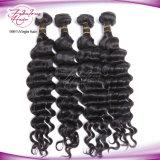 最もよい人間の毛髪の深く巻き毛のブラジルの毛の織り方