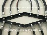 La norme DIN EN 854 3te/ SAE 100R3 Deux textile flexible hydraulique renforcée