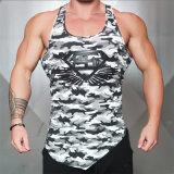 Parti superiori di serbatoio della maglietta della maglietta della maglia degli uomini di forma fisica