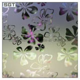 Dekorative gekopierte Säure ätzte klar Gleitbetriebs-Partition-Büro-Tür-Glas