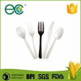 Het biologisch afbreekbare Beschikbare Plastic Bestek van Psm van het Maïszetmeel