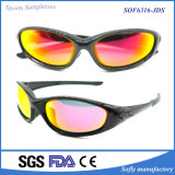 Occhiali da sole di riciclaggio di protezione di sport UV400 dello stilista degli uomini all'ingrosso