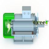 revolución por minuto inferior de 3kw 200rpm alternador sin cepillo de la CA de 3 fases, generador de imán permanente, dínamo de la eficacia alta, Aerogenerator magnético