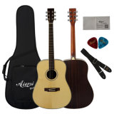 Тавро Aiersi 41 дюйм - гитара высокого качества твердая елевая акустическая (SG02SR)