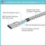 3.1 USB-кабель типа C 2.1 с функцией быстрой зарядки с помощью нейлоновой оплеткой для Android