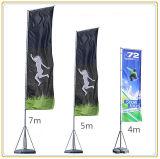 水漕ベースが付いている4mの羽のフラグの旗の表示