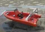 Aqualand 26pies 8m 14personas Non-Air rellena de fibra de vidrio/militar de rescate inflables rígido Rib de patrulla en barco a motor (rib800).