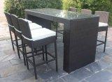 Cadeiras e tabela ao ar livre da barra do Rattan/feltro de lubrificação da mobília