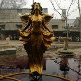 La decoración de jardín figura la estatua de bronce escultura de Angel con alas