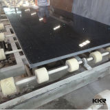 Kingkonree 2cmおよび3cm Caesarstoneミラーの黒の水晶平板