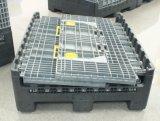 Recipiente plástico resistente da caixa de armazenamento com tampa