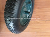 3.00-4 Rotella di gomma resistente della carriola, rotella di Handtruck con l'orlo superiore