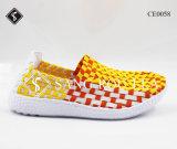 Neue Art-Frauen-Turnschuh-Webart-gehende Schuhe