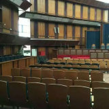 Chaise d'auditorium avec siège de chaise de salle de conférence et de microphone et de traduction (R-6135)