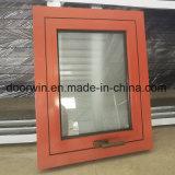 Color rojo, marcos de ventanas de aluminio con cristal Frosred para el hogar