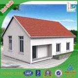 Netter Aussehen-Licht-Stahlrahmen-Haus-Entwurf für das Leben gebildet in Guangdong