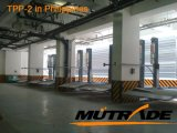 Sistema do estacionamento da pilha do empilhador do dobro do elevador hidráulico de dois bornes