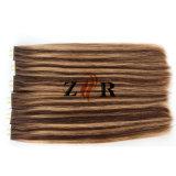 Doble Color Piano dibuja el pelo de Brasil la cinta en la extensión de cabello humano.