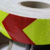 лента маркировки желтого и красного стрелки слипчивого корабля 5cm отражательная
