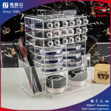 Fábrica Hot Sale Black & White Acrylic Spinning Lipstick Stand