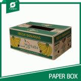 두 배 벽 색깔에 의하여 인쇄되는 과일 화물 박스 바나나 포장 판지