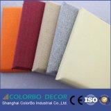 Шум поглощения акустической ткани одежды настенной панели для интерьера