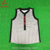 Healong Sublimation-Soem kundenspezifischer Form-Baseball Jersey
