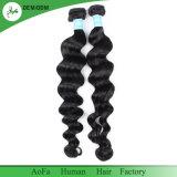 Человеческие волосы перуанского качества объемной волны превосходного Unprocessed естественные
