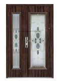 Oriente Médio, Europ, EUA Francês de Aço de vidro temperado porta exterior de porta a porta de segurança (EF-G006)