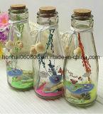 明確なガラス薬剤師の瓶- 3のセット-結婚式キャンデーのビュッフェの容器(小さく、明確)