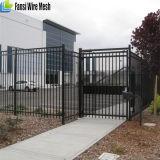 Frontière de sécurité de garantie lourde clôturant la lance panneau noir 2.4X1.8 de 2400 x de 1800mm