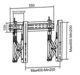 Видео нажмите для настенного монтажа VESA точная настройка Max. 400*400 (WMP 400S)