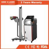 생산 라인 20W 30W 50W를 위한 기계 섬유 & 이산화탄소 레이저 프린터를 인쇄하는 온라인 비행