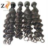 Weave brasileiro preto natural não processado do cabelo humano de 100% melhor