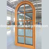 Gril de guichet en verre simple de panneau de Deisgn Windows et bois solide