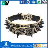 Ajustados de cuero con púas Boutique buena venta subieron los colores de los remaches de enfriar el collar de perro