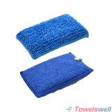 Blaues Microfiber Auto-einzeln aufführenwäsche-Schwamm