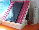 分割加圧フラットパネルの太陽水暖房装置