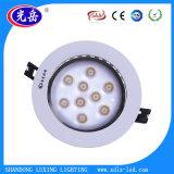 Última aluminio puro 9*1W CA 85-265 V 80~95lm/W LED 9W Lámpara de techo