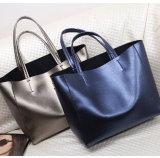 Grote Totalisator van twee van de Toon van de Kleur de Zwarte Pu Vrouwen van het Leer Dame Hand Bag voor Verkoop