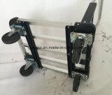 Rad-flacher im Freien faltender Karren-Garten-Karren-Einkaufswagen des Aluminium-vier