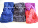 Новый дизайн моды дамы ручной вязки ношение тюрбана Neckwarmer с головной стяжкой