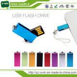 A melhor vara feita sob encomenda de venda do USB do logotipo da movimentação do flash do USB do giro