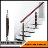 42/51mm 둥근 관 계단 난간 대중 현대 방책 디자인
