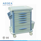 AG-MT003b3 Material ABS Medicina móvel carrinhos de tratamento hospitalar